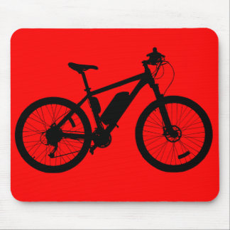 Bicycle Silhouette Mouse Pad