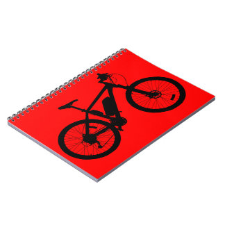 Bicycle Silhouette Spiral Notebook