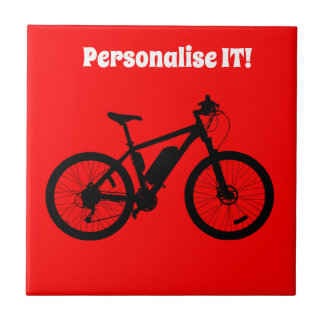 Bicycle Silhouette Tile