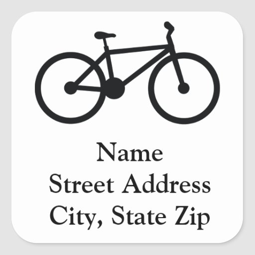bicycle square sticker