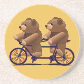 Bicycle Tandem, Teddy Bear Print Drink Coaster