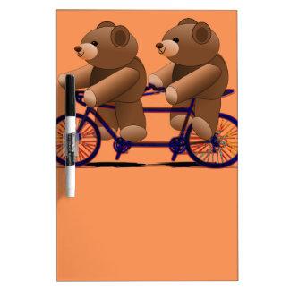 Bicycle Tandem, Teddy Bear Print Dry Erase Board