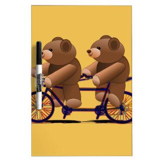Bicycle Tandem, Teddy Bear Print Dry Erase Whiteboards