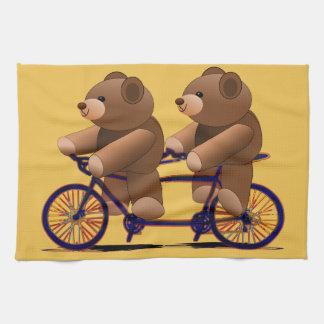 Bicycle Tandem, Teddy Bear Print Tea Towel