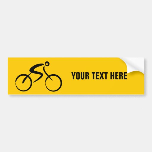 Bicycle template bumper stickers