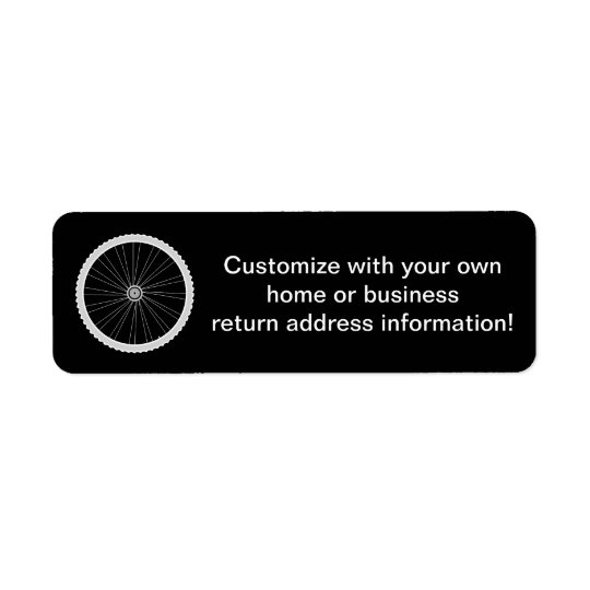 Bicycle Tire Personalised Return Address Labels