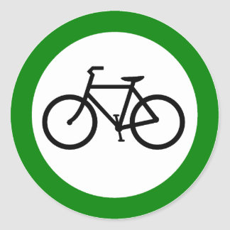 Bicycle Traffic Highway Sign Round Sticker