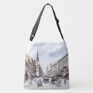 Bicycle Vienna Austria 1800s City Horses Tote Bag
