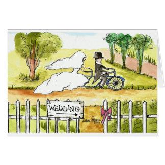Bicycle Wedding Card
