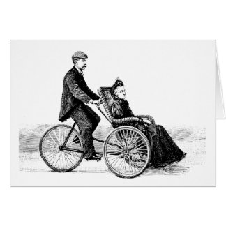 Bicycle Wheelchair - Vintage Victorian Bicycles Card