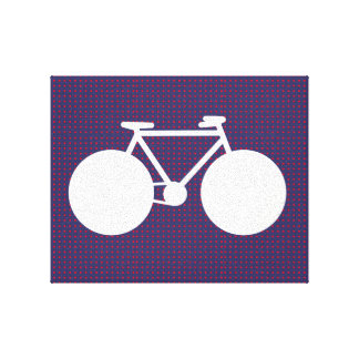 bicycle white / red small dots gallery wrapped canvas