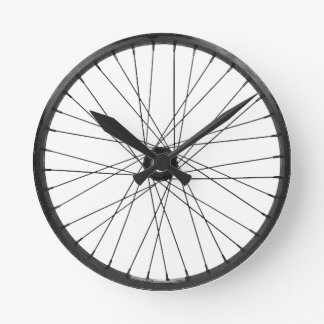 bicycle wire wheel round clock