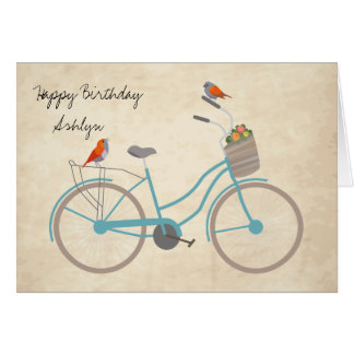 Bicycle with Birds Card