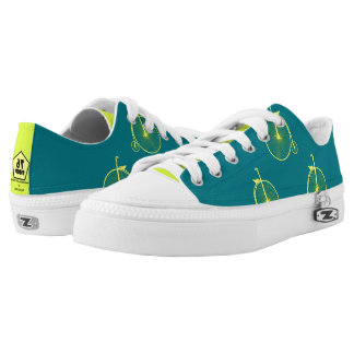 Bicycle Yellow Blue Low Tops