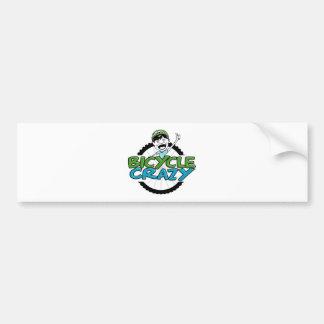 BicycleCrazy Bumper Sticker