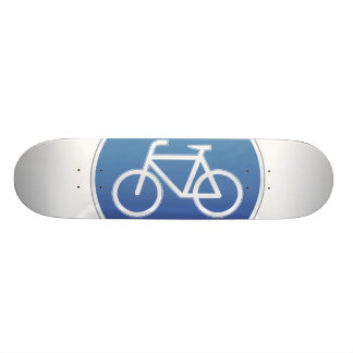 Bicycles allowed road sign skate boards
