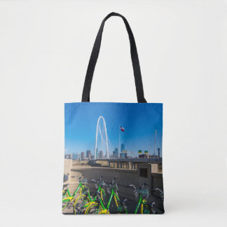 Bicycles And Dallas Tote Bag
