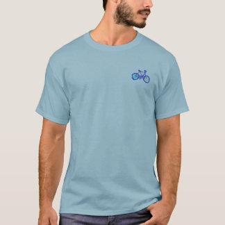 bicycles blue graphic art mandala T-Shirt