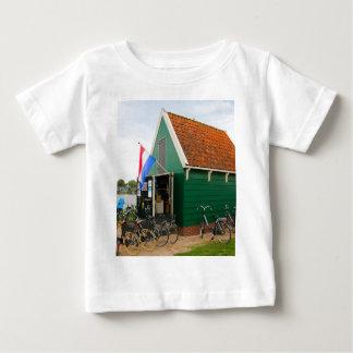 Bicycles, Dutch windmill village, Holland Baby T-Shirt