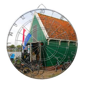 Bicycles, Dutch windmill village, Holland Dartboard