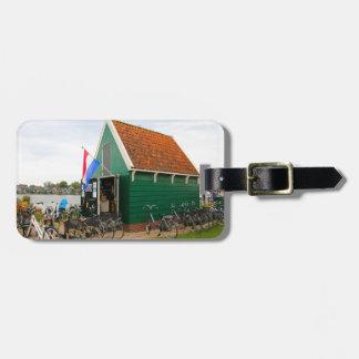 Bicycles, Dutch windmill village, Holland Luggage Tag