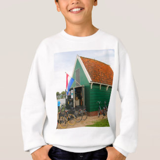 Bicycles, Dutch windmill village, Holland Sweatshirt