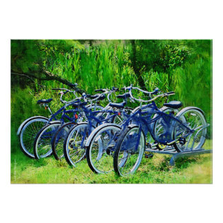 Bicycles Fire Island Poster