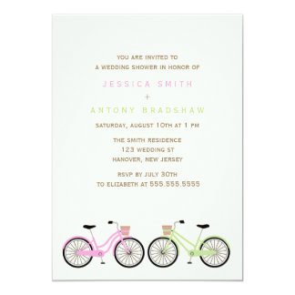 Bicycles His and Hers Bridal Shower Card