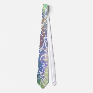 bicycles on watercolor tie