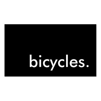 bicycles. pack of standard business cards