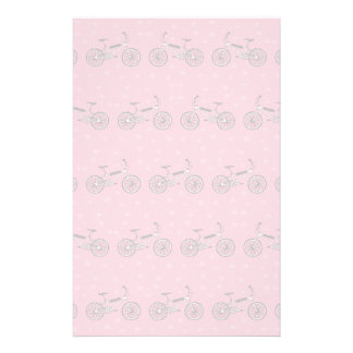 Bicycles pattern custom stationery