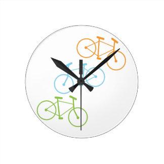 Bicycles Round Clock