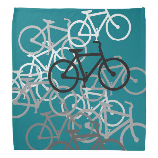 Bicycles...with your background color. bandana