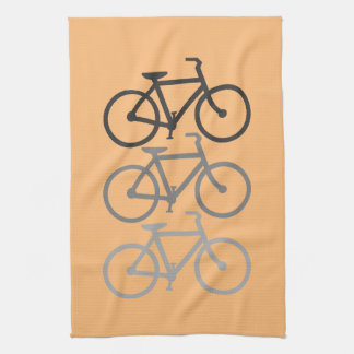 Bicycles with your background. tea towel