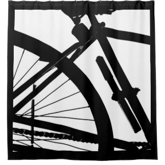 Bicyclette (Black & White) Shower Curtain