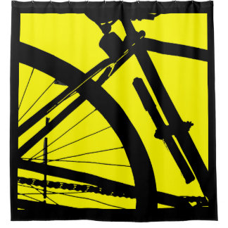 Bicyclette (Yellow) Shower Curtain