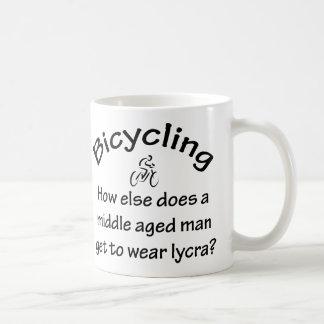 Bicycling Basic White Mug
