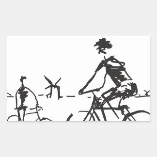 Bicycling Bike Sketch Stickers