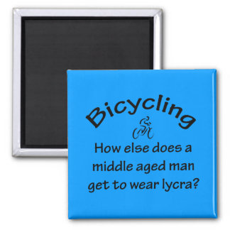 Bicycling Square Magnet