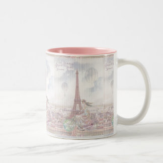Bicycling through Paris Coffee Mug