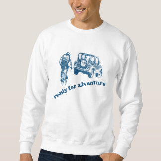 Bicyclist and Motorist are ready for adventure Pull Over Sweatshirts