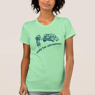 Bicyclist and Motorist are ready for adventure T Shirts