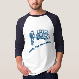 Bicyclist and Motorist are ready for adventure Tee Shirt