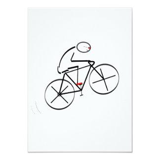 Bicyclist Birthday 11 Cm X 16 Cm Invitation Card