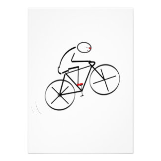 Bicyclist Birthday Personalized Announcement