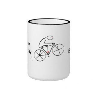 Bicyclist Birthday Ringer Mug