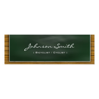 Bicyclist / Cyclist - Cool Blackboard Personal Business Card Template