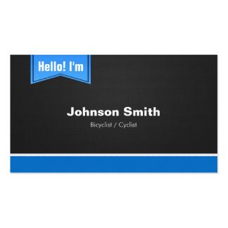 Bicyclist / Cyclist - Hello Contact Me Business Card
