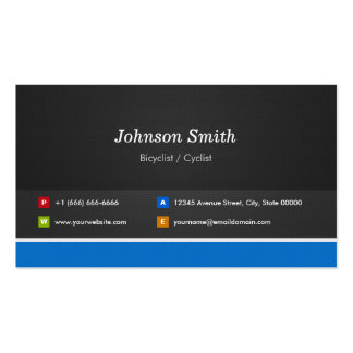 Bicyclist / Cyclist - Professional Customizable Pack Of Standard Business Cards