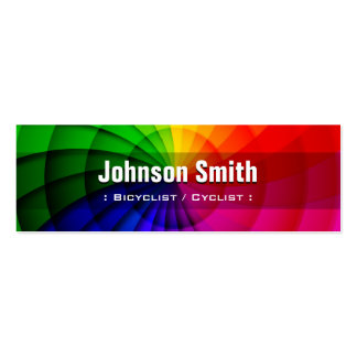 Bicyclist / Cyclist - Radial Rainbow Colors Pack Of Skinny Business Cards